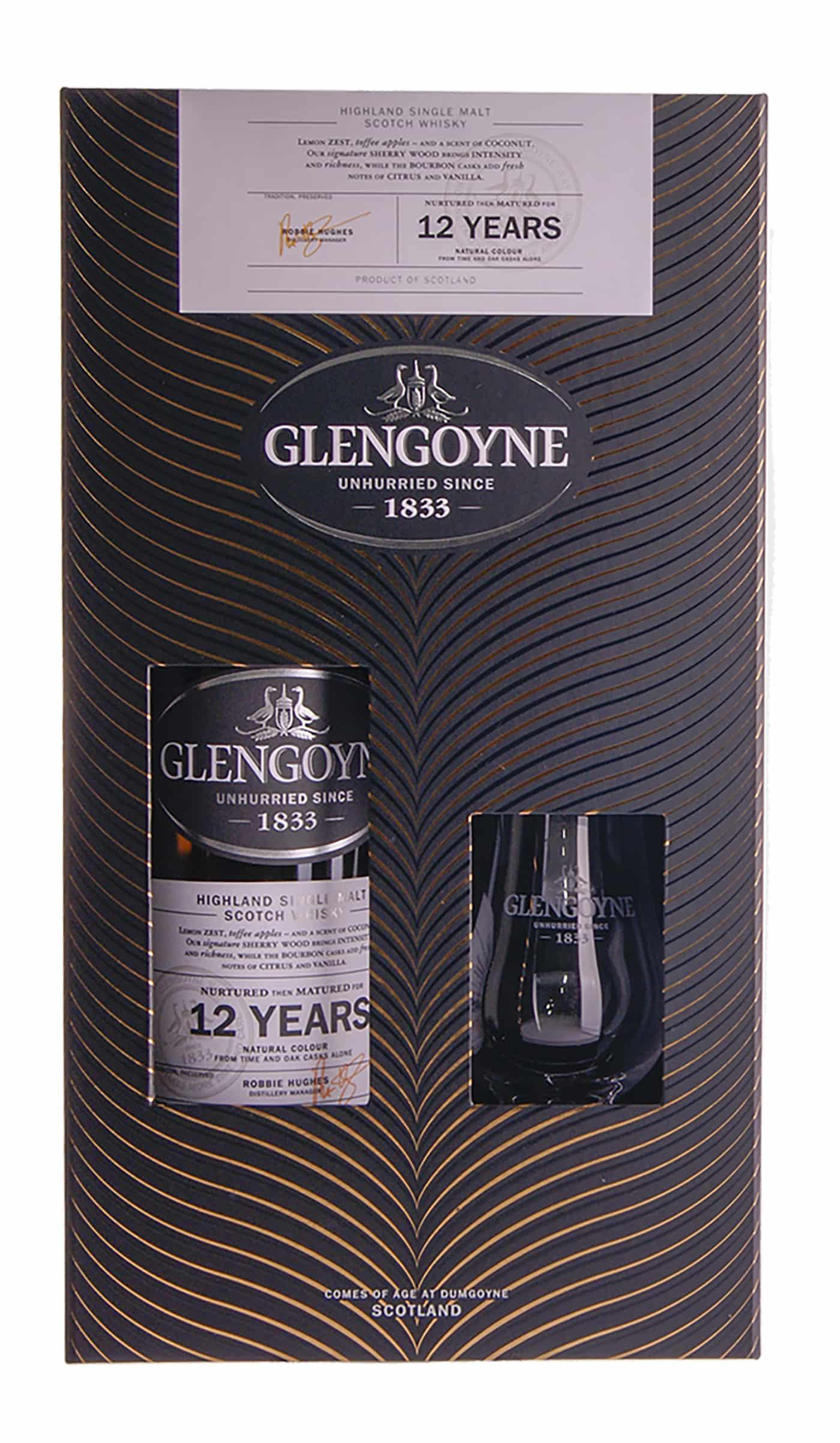 Glengoyne 12yo med Glas