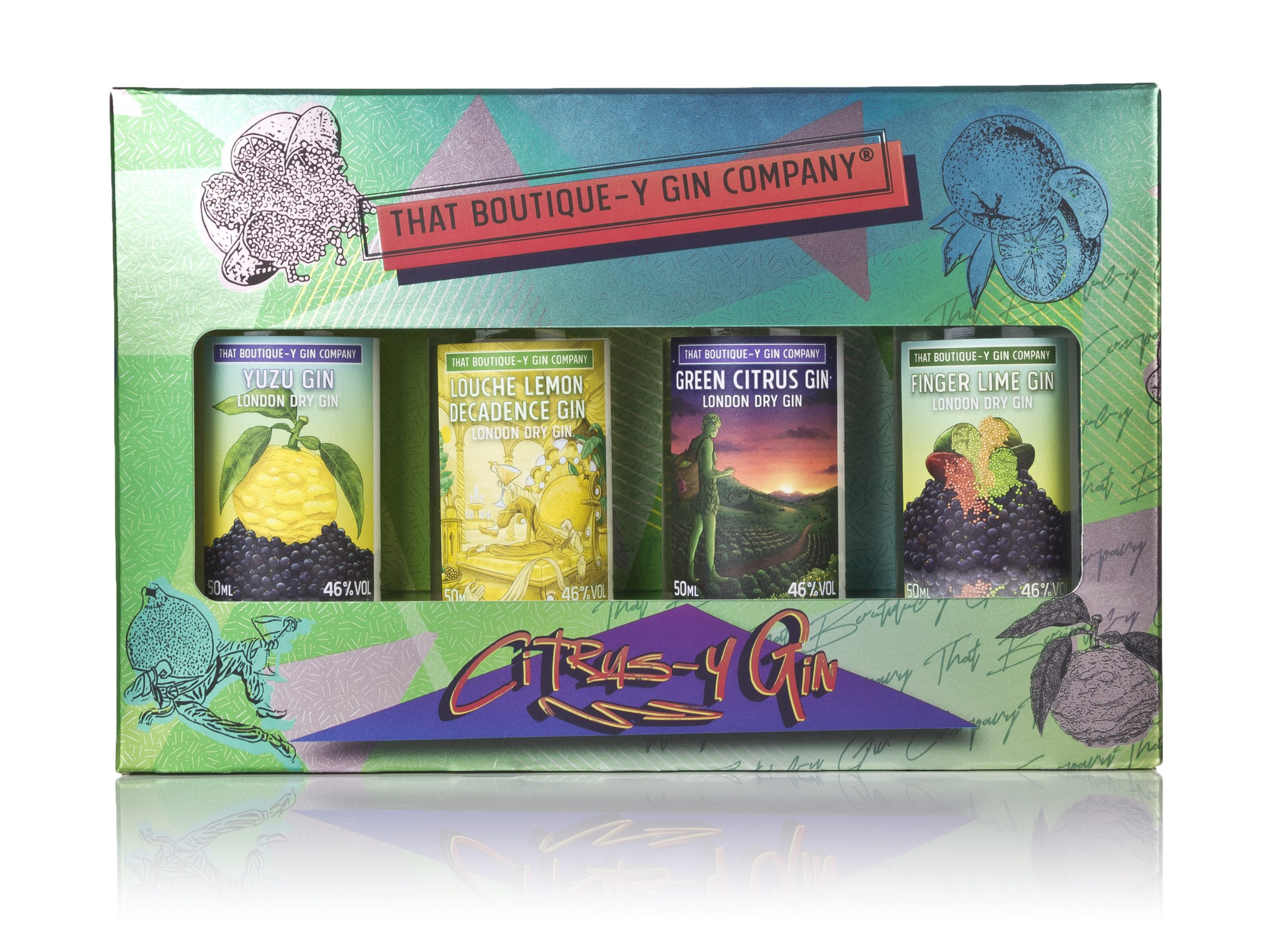 That Boutique-y Citrus Gin Set 4 x 5cl