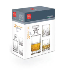 RCR Opera Decanter Sæt m. 2 glas