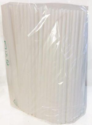 Bio-Pot sugerør, Hvid 8x250 mm