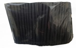 Bio-Pot sugerør, Sort,7x160 mm