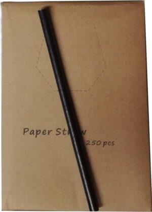 Papirsugerør Sort 250 stk 14 cm