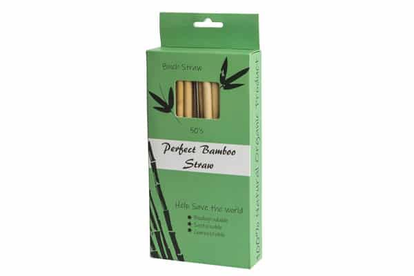 Bambus sugerør 20cm 50 stk + 2 børster